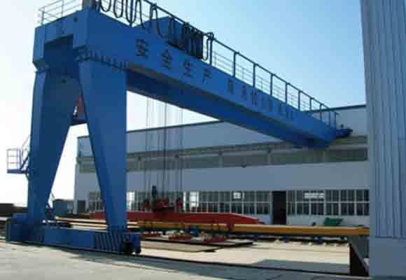Double Girder Semi Gantry Crane for Workstation Use.jpg