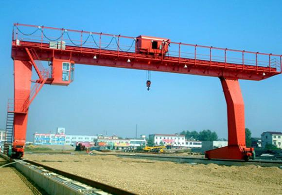 L-Shaped Legs Single Girder Gantry Crane con cabrestante