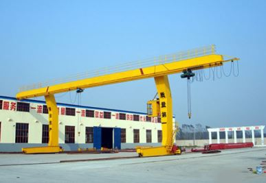 L-Shaped Legs Single Girder Gantry Crane con alzamiento